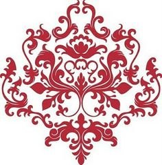 Damask clipart accent Best Accents Clip Art Red