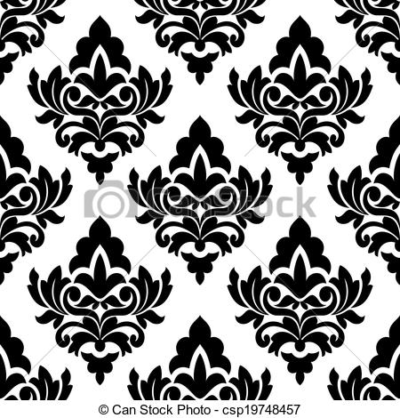 Damask clipart bold Pattern csp19748457 Vector  large