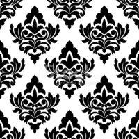 Damask clipart bold Pattern Bold Style Pattern vectors