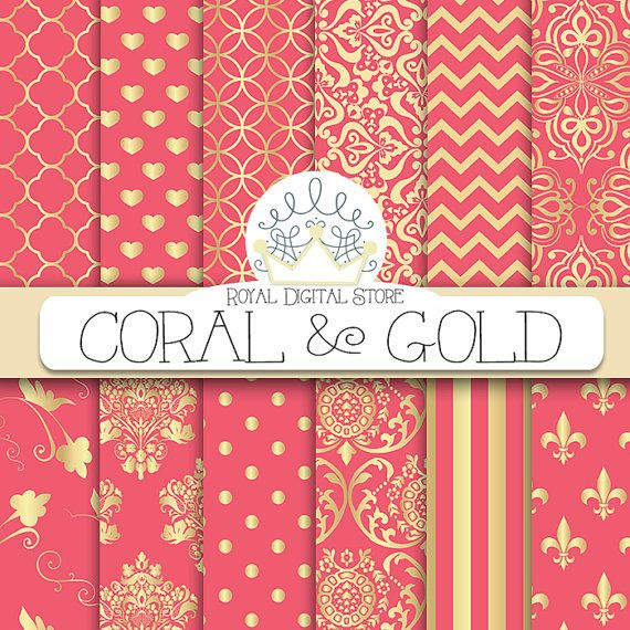 Damask clipart coral Coral instant images on with