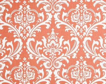 Damask clipart coral Slipcover damask Home Decor fabric