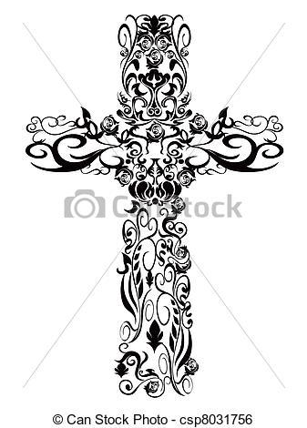 Damask clipart cross Cross decoration Art Cross of
