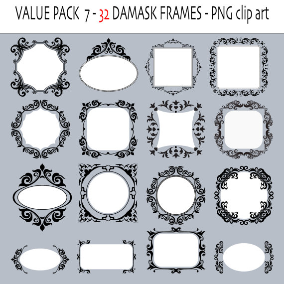Damask clipart damask circle To labels labels on similar