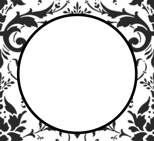 Damask clipart damask circle At this Clker Download art
