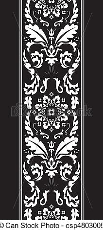 Damask clipart fancy Pattern Vector background damask csp4803005