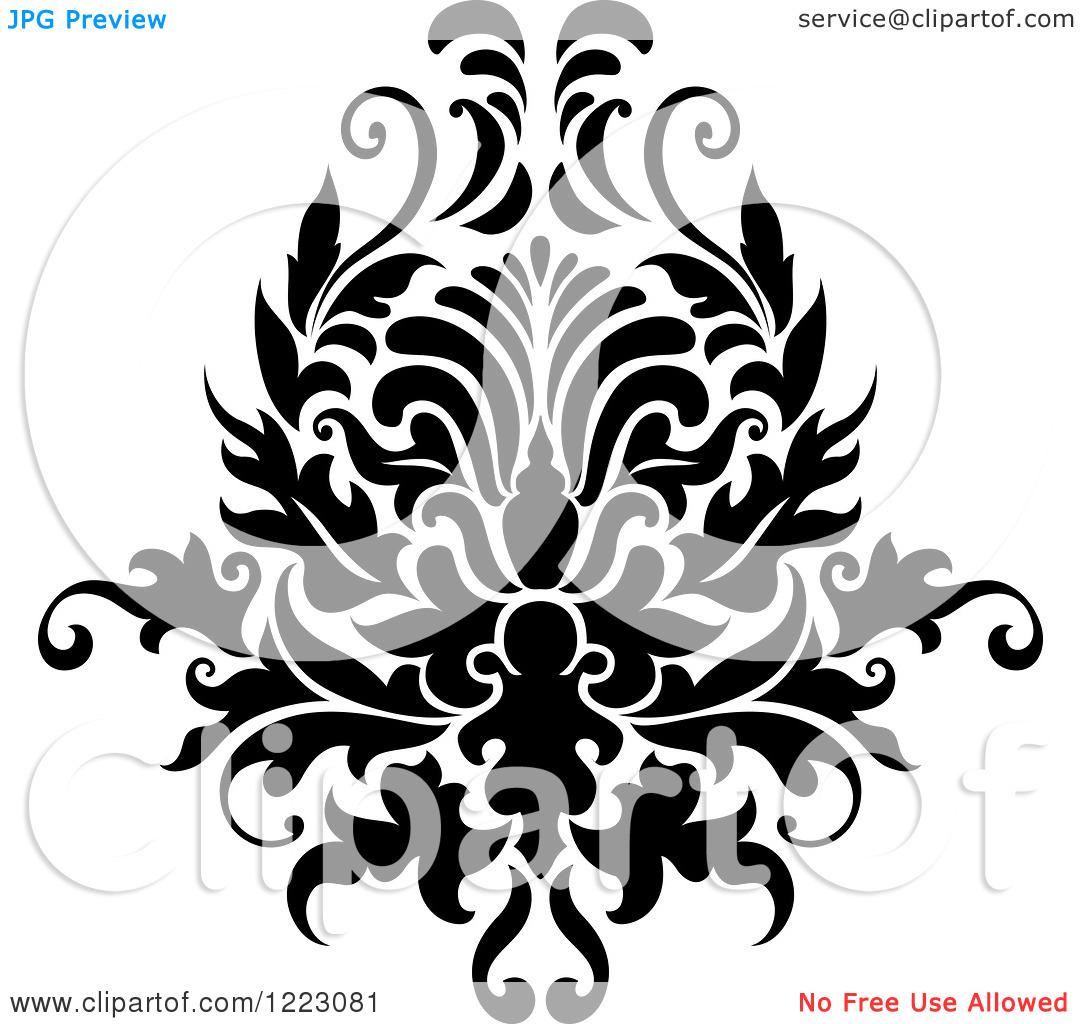 Damask clipart floral Clipart Floral damask damask clipart