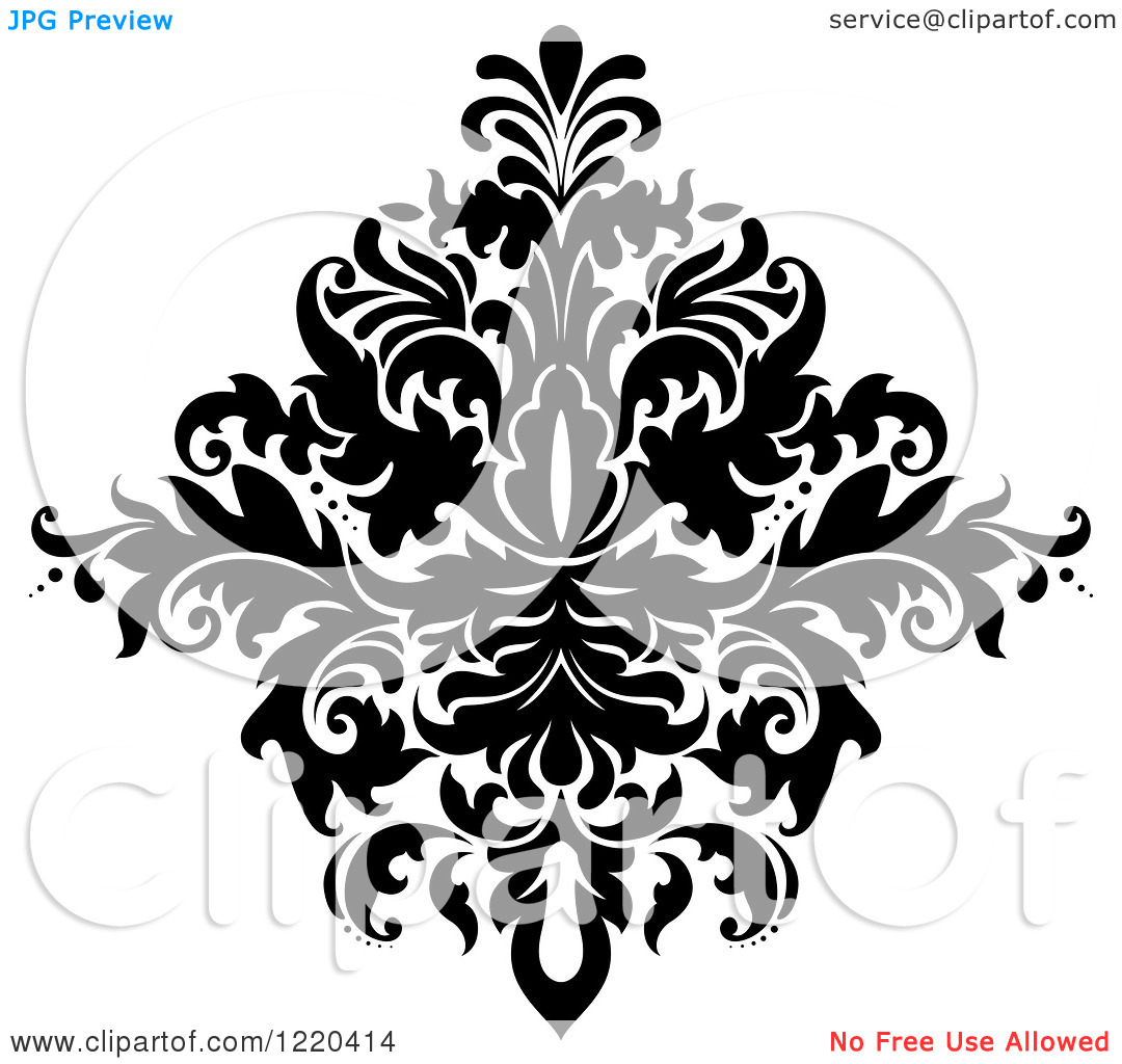 Damask clipart floral Clipart Clipart Download Free Free