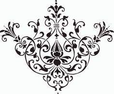 Damask clipart flourishes – clip design free Clipart