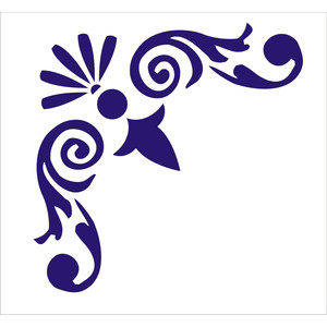 Damask clipart flourishes Flourish Furniture for for Wall