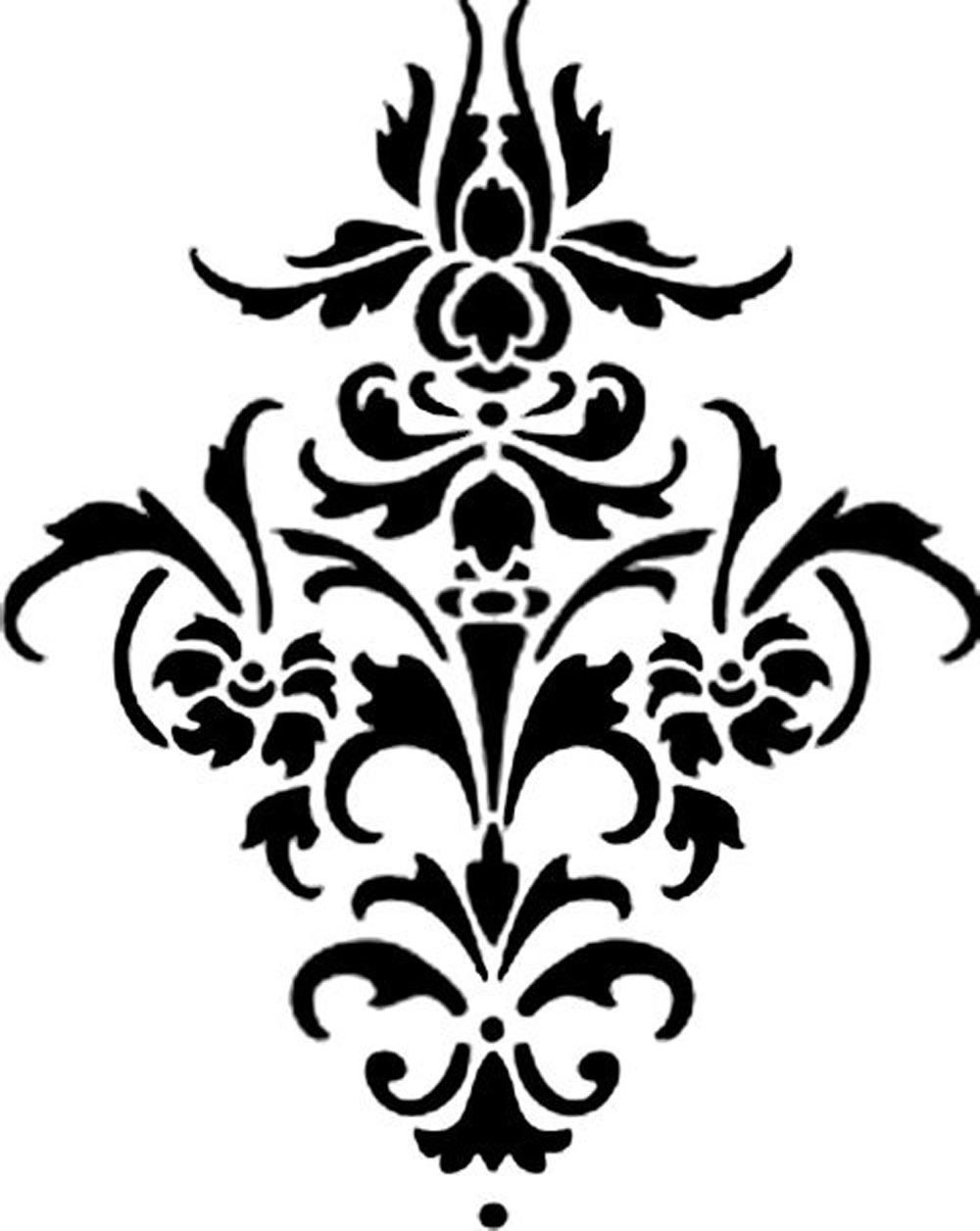 Damask clipart flourishes Download Clip Damask Free on