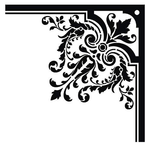 Damask clipart frame Free free design baroque Starsunflower