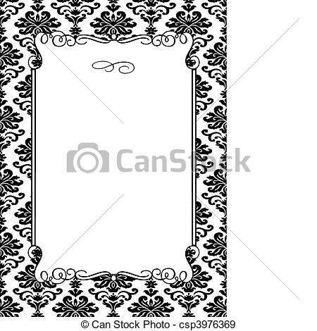 Damask clipart frame EPS Damask of Frame Vector