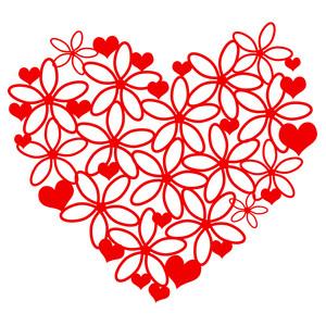 Damask clipart heart filigree Design hearts Silhouette Store