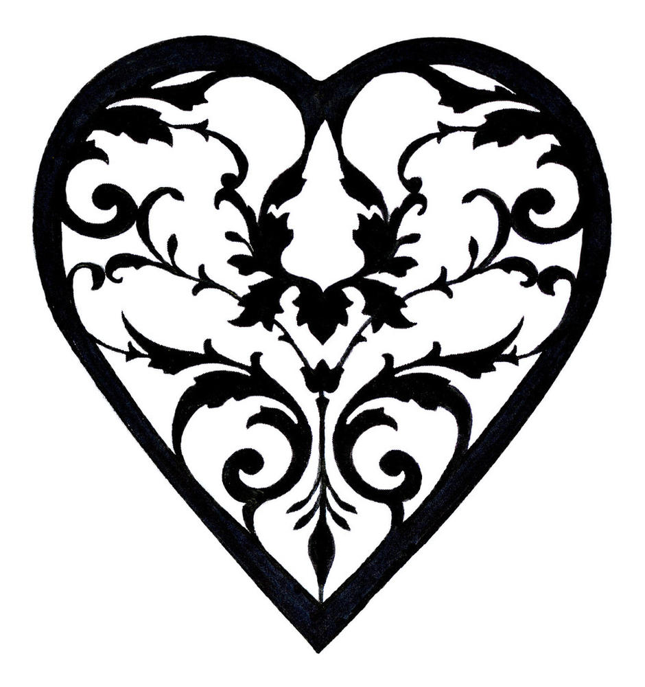 Damask clipart heart filigree Of What's Mother Pearl Filigree