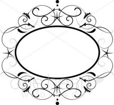 Damask clipart oval French Decor Vintage and Vintage