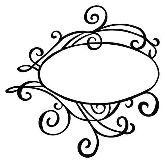 Damask clipart oval Than Frame Oval Vinyl More