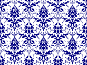 Damask clipart page Blue Damask Clip clip Page