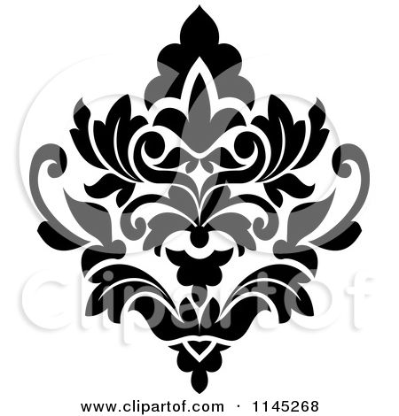 Damask clipart single Damask images 149 on damask