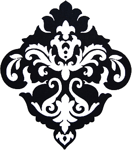 Damask clipart single On Clip Download Damask Clip