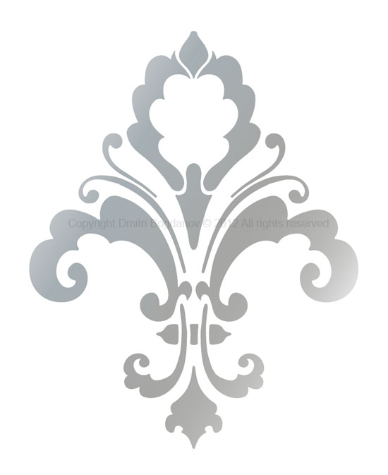 Damask clipart single Damasks Stencil LIS CHIC Designer