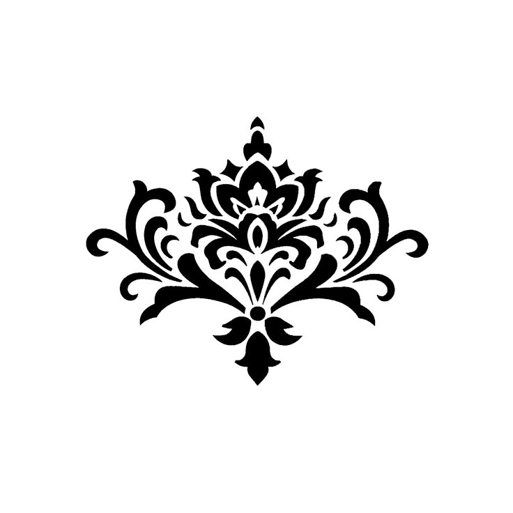 Damask clipart single Free Cliparts Damask Buy graphic