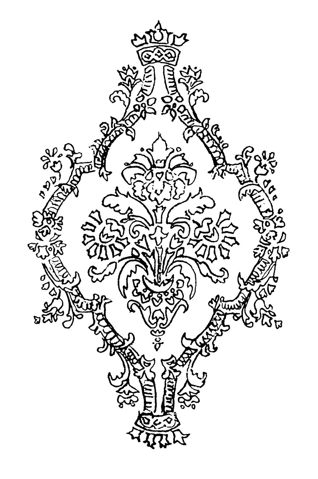 Damask clipart single Wallpaper Mel digi missing paper