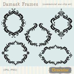 Damask clipart sophisticated Art Damask damask Art Flourish