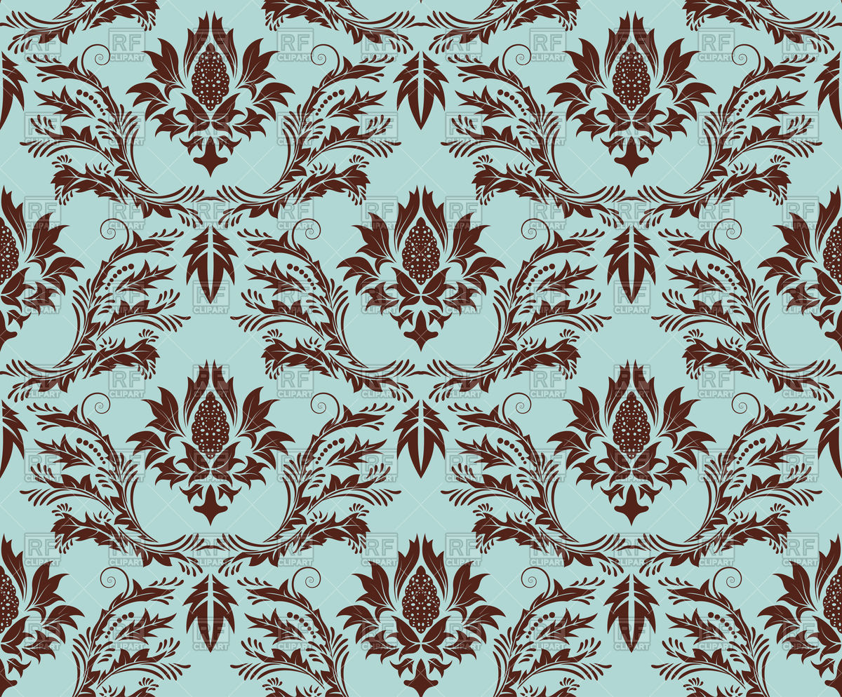 Damask clipart teal Brown brown Damask clipart clipart