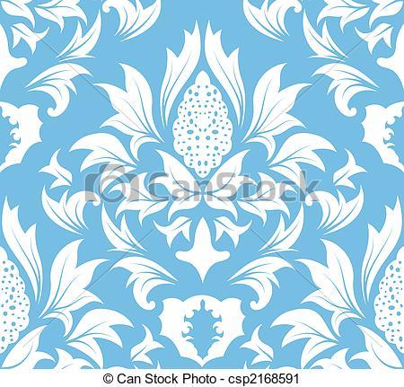 Damask clipart teal Vector Damask damask Vector pattern