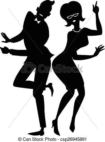 Danse clipart the twist EPS Vectors csp26945891  couple