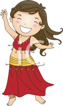 Brunette clipart animated Dancing  Woman Clipart Animated