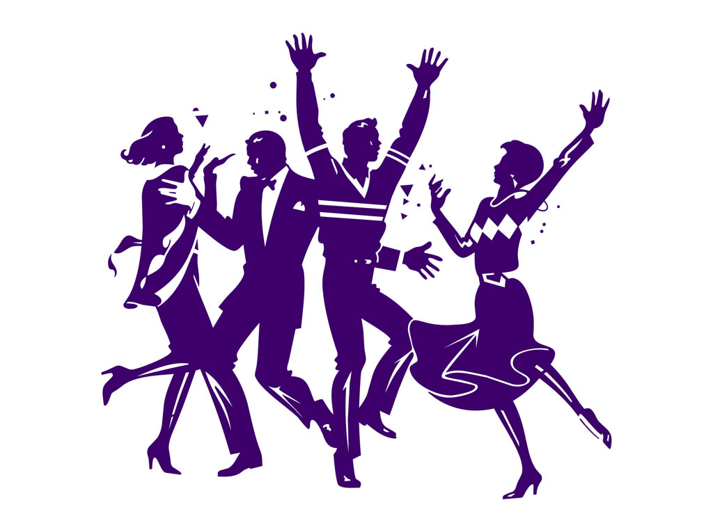 Purple clipart dance Clipart At collection party image