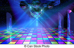 Background clipart dance floor Shining mirror with free Clip