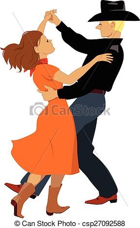 Cowboy clipart country dancing Polka Couple dressed Polka of