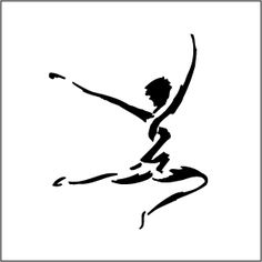 Abstract clipart dancer Cameo Silhouette WallHi Images Art
