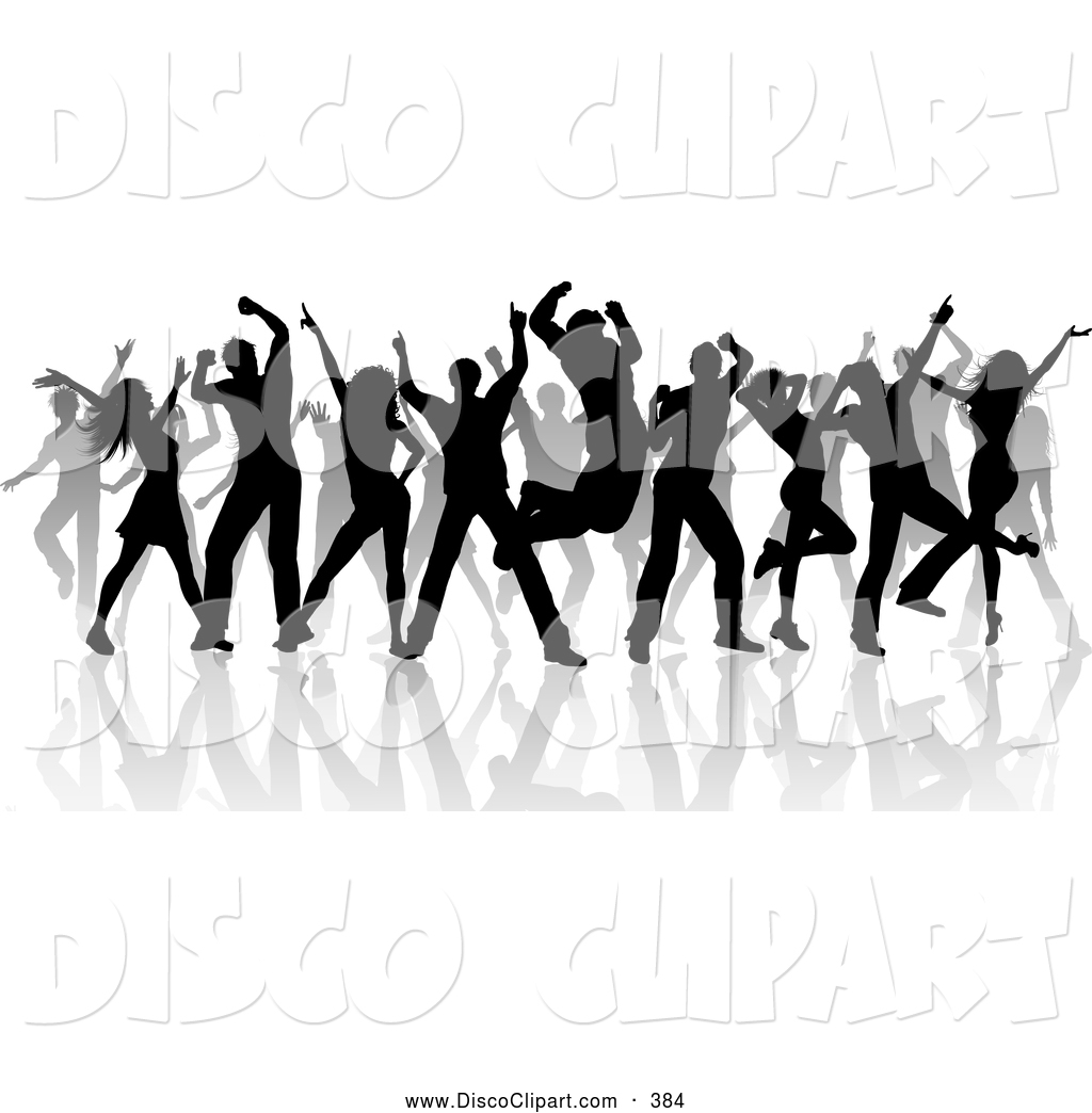 Danse clipart music and dance Silhouetted Dance Dancers a a