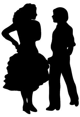 Meringue clipart Dancer Silhouette silhouette pasodoble dancer