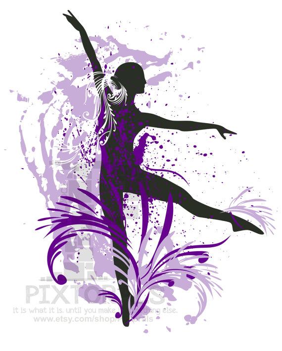 Purple clipart dance Dancer and Dancer Dancer Splashed