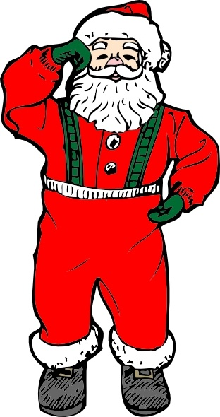 Santa clipart dancing #5