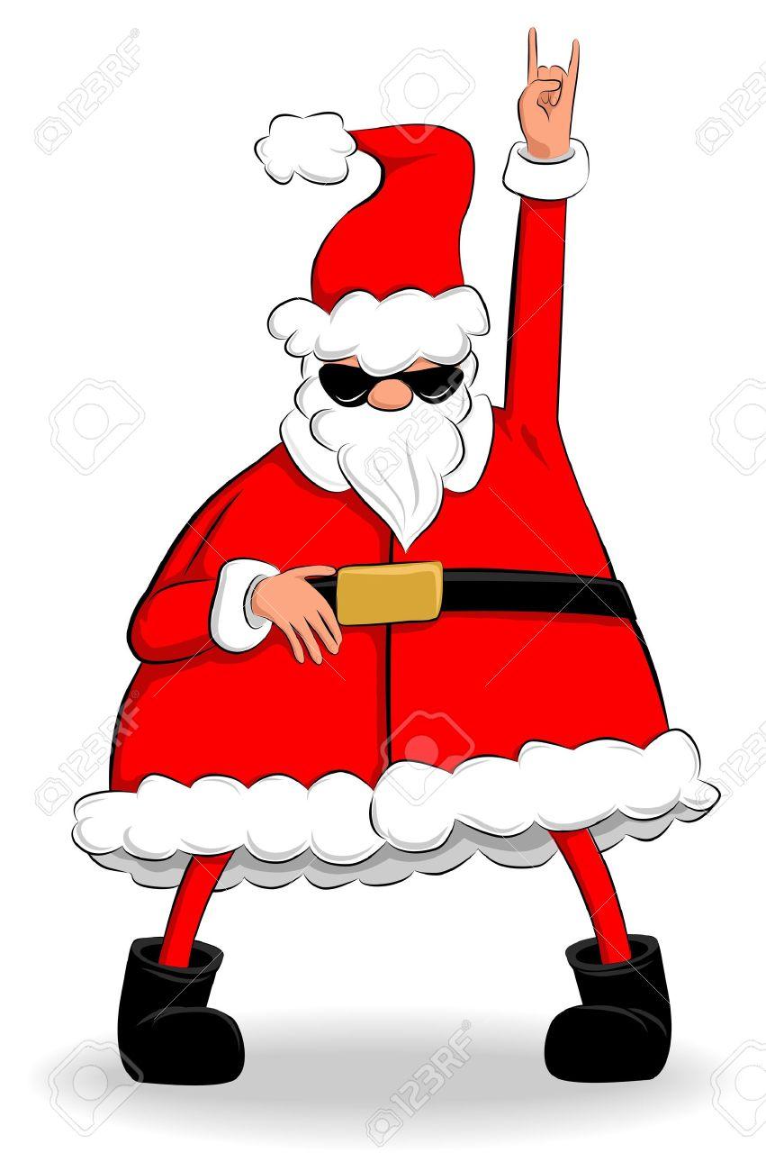 Santa clipart dancing #12
