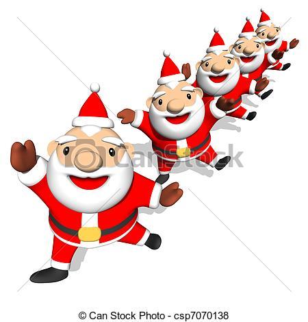 Santa clipart dancing #7