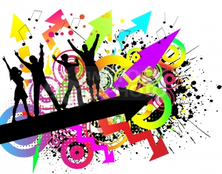 Disco clipart just dance Line Line Art Dancing Clip