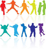 Danse clipart teenager Teenagers silhouettes teenagers and Clip