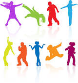 Danse clipart teenager Clip with vector posing Art