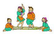 Danse clipart tinikling JB JBPedia Tinikling bamboo dance