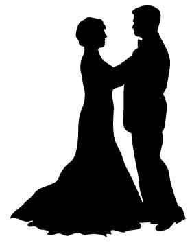 Danse clipart black tie event Waltz silhouette Silhouette Silhouette dancer