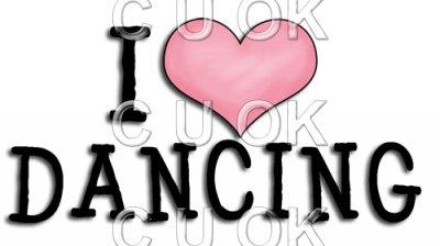Danse clipart word Dancing Word Art Love £0
