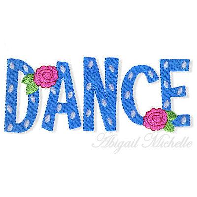 Danse clipart word 4 Sizes! Word Dance