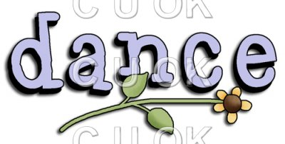Danse clipart word Art REF214 Commercial Word Use