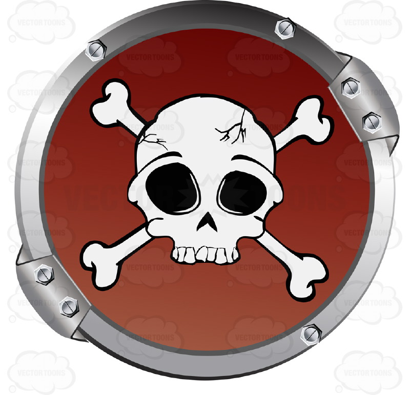 Danger clipart crossbone And Warning Crossbones Circle Red